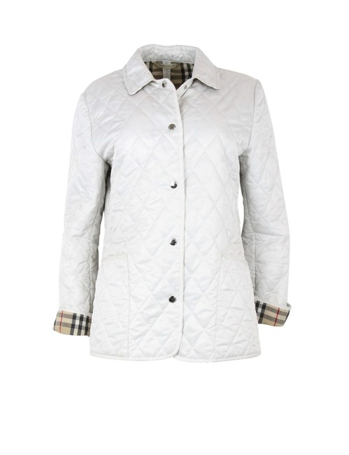 Item - White Short Quilted Jacket Size 6 (S)