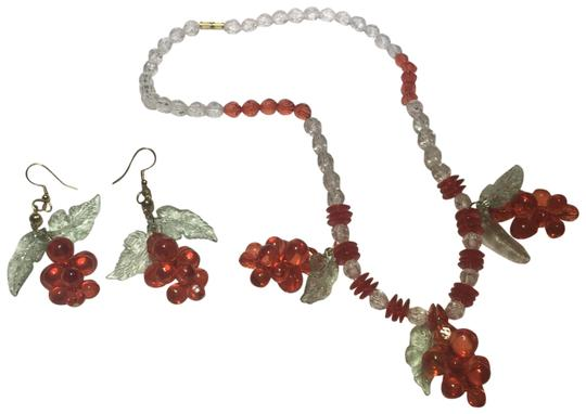 Preload https://img-static.tradesy.com/item/24925323/red-beaded-colorful-fruit-necklace-and-earring-set-0-1-540-540.jpg