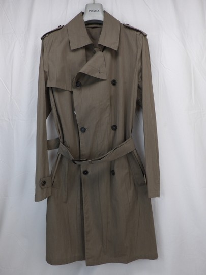 Preload https://img-static.tradesy.com/item/24925395/prada-beige-double-sand-cotton-buttons-breasted-lightweight-trench-coat-50-italy-tuxedo-0-0-540-540.jpg