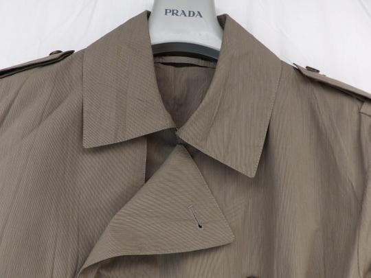 Prada Beige Double Sand Cotton Buttons Breasted Lightweight Trench Coat 50 Italy Tuxedo Image 5