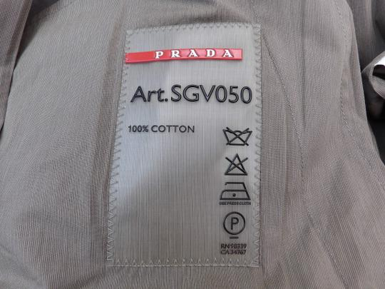 Prada Beige Double Sand Cotton Buttons Breasted Lightweight Trench Coat 50 Italy Tuxedo Image 8