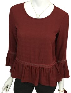 Max Studio Top Burgundy