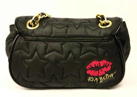 Betseyville by Betsey Johnson Quilted Chain Strap Star Fabric Embroidered Shoulder Bag Image 1
