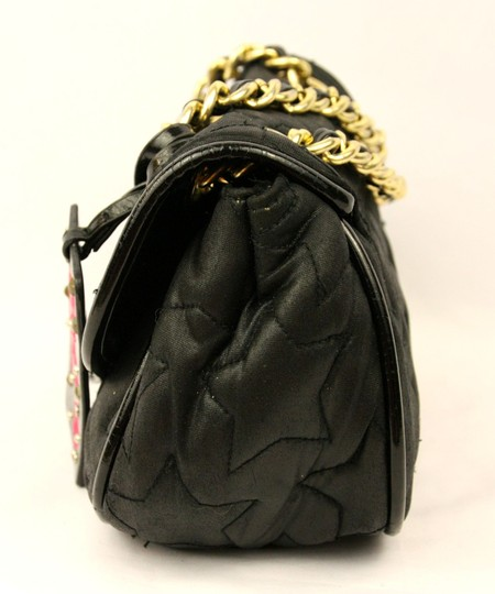 Betseyville by Betsey Johnson Quilted Chain Strap Star Fabric Embroidered Shoulder Bag Image 3