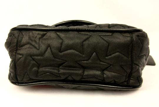 Betseyville by Betsey Johnson Quilted Chain Strap Star Fabric Embroidered Shoulder Bag Image 4