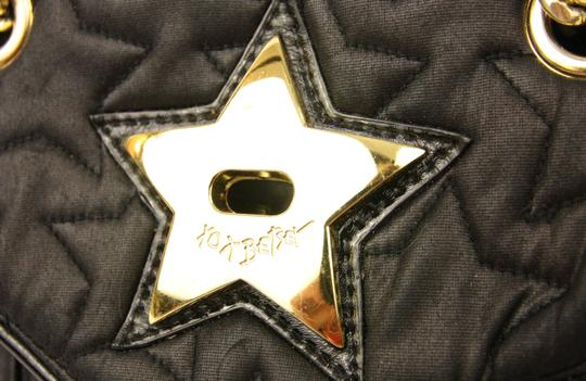 Betseyville by Betsey Johnson Quilted Chain Strap Star Fabric Embroidered Shoulder Bag Image 6