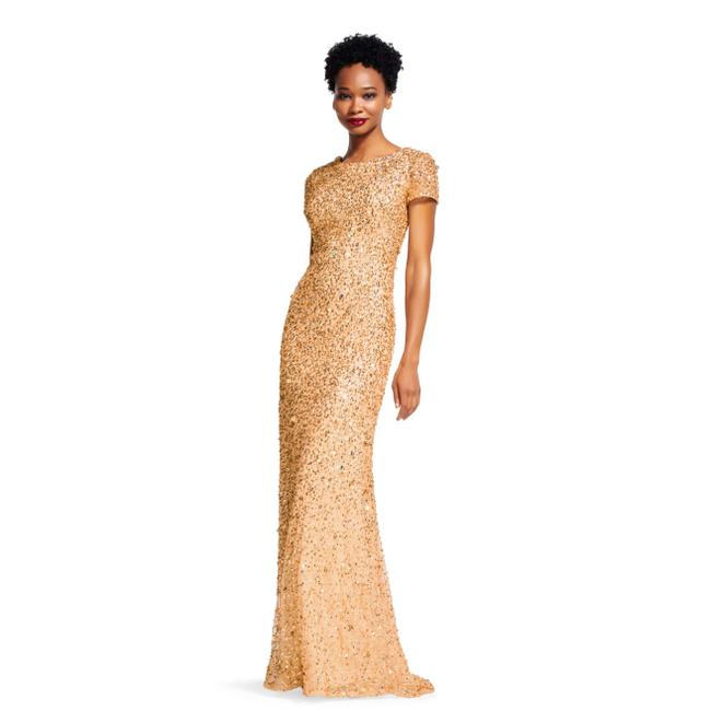 Preload https://img-static.tradesy.com/item/24925682/adrianna-papell-gold-scoop-back-beaded-gown-long-formal-dress-size-8-m-0-0-650-650.jpg
