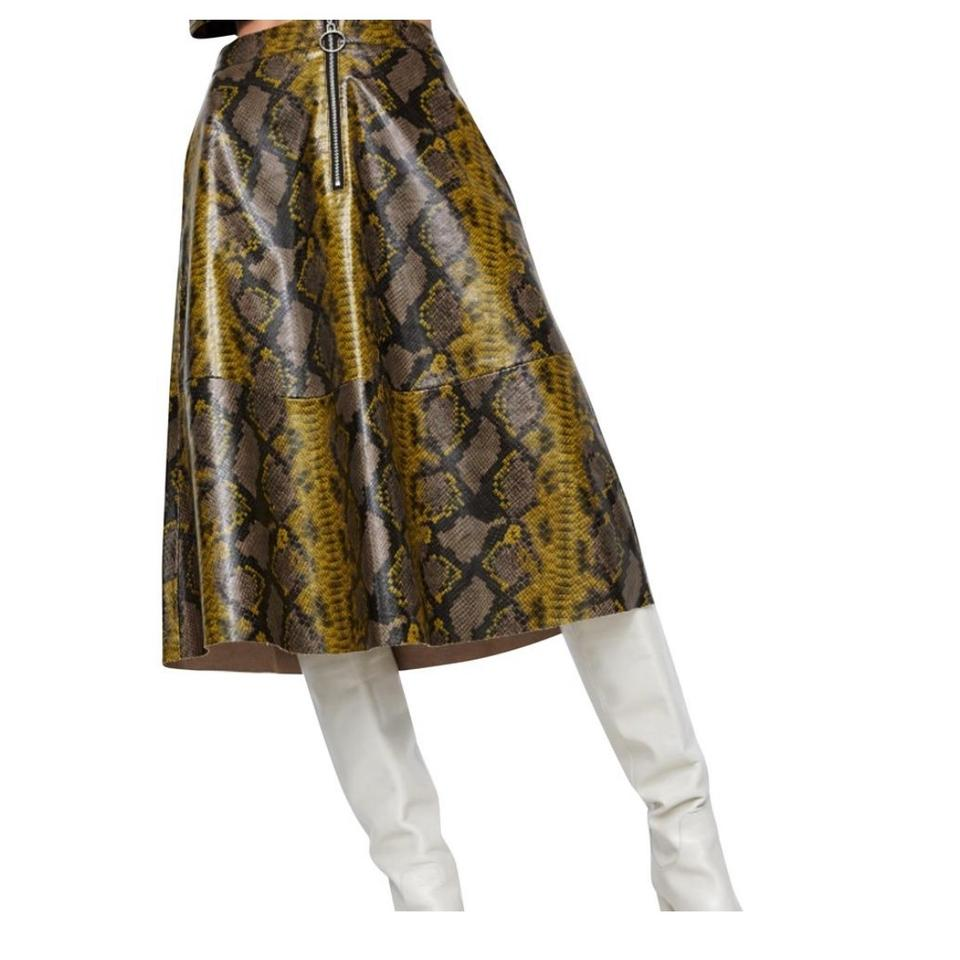 100% original unique design quality first Zara Snake New Shiny Snakeskin Print Skirt Size 8 (M, 29, 30)