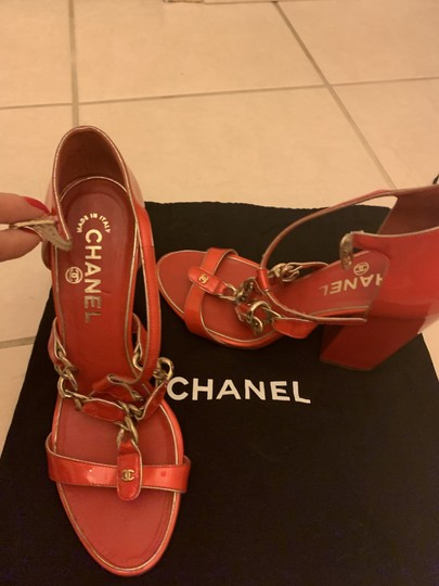 Chanel Red Sandals Image 1