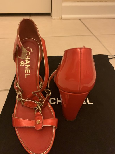 Chanel Red Sandals Image 5