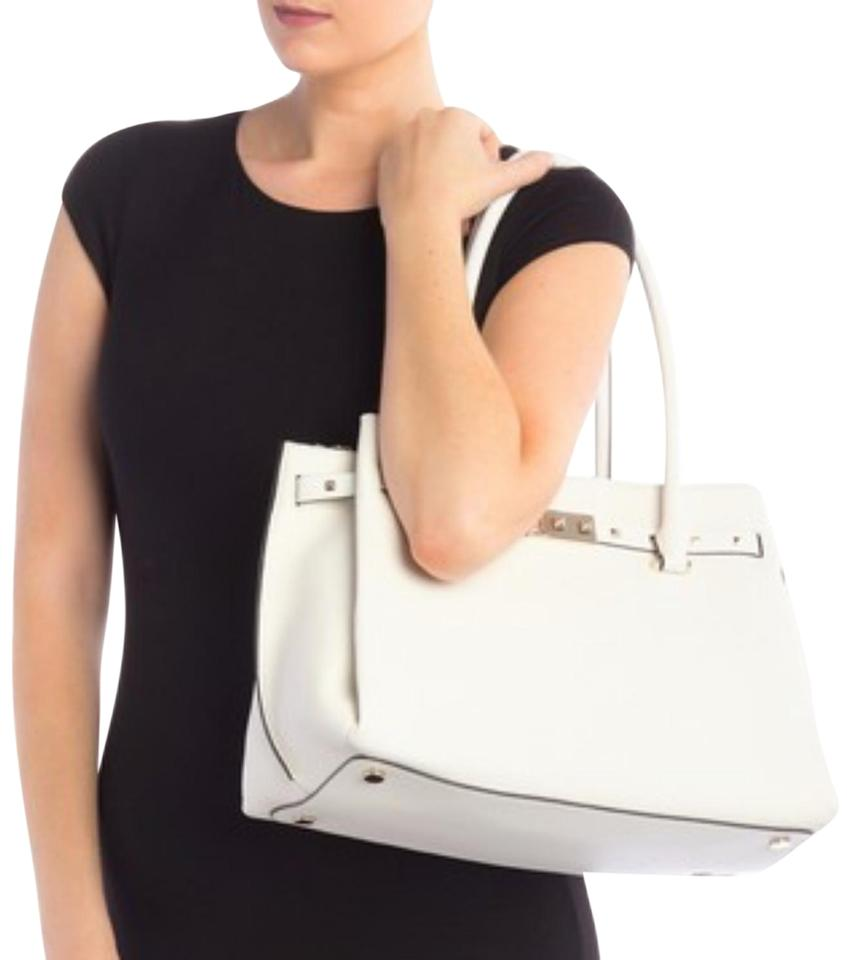01809fdd6d73 MICHAEL Michael Kors Large Addison Pebbled Optic White Leather Tote ...