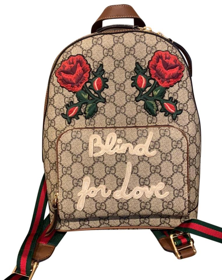31c66d87444a6f Gucci Exclusive Limited Edition - Blind For Love Canvas Backpack ...
