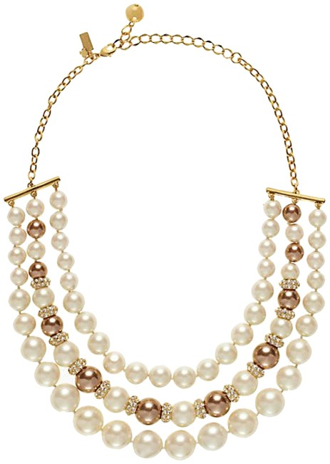 Item - White Pearl and Gold Parlour Necklace