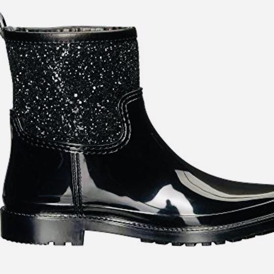 Michael Kors Mk Rainboots Bling Black with glitter style shaft Boots Image 1