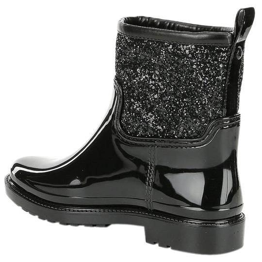 Michael Kors Mk Rainboots Bling Black with glitter style shaft Boots Image 2