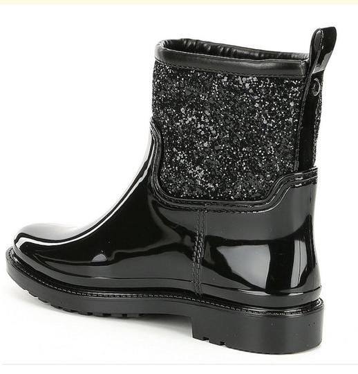 Michael Kors Mk Rainboots Bling Black with glitter style shaft Boots Image 3