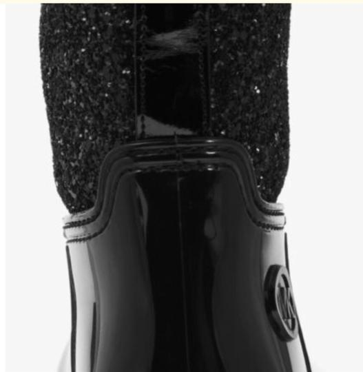 Michael Kors Mk Rainboots Bling Black with glitter style shaft Boots Image 4