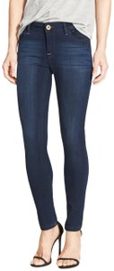 DL1961 Whiskering Low Rise Mid Rise Skinny Jeans-Dark Rinse