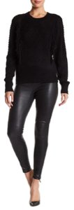 LAMARQUE Leather Stretch Legging Skinny Pants Black