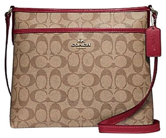 Preload https://img-static.tradesy.com/item/24925932/coach-file-in-signature-khaki-cherry-light-gold-coated-canvas-cross-body-bag-0-1-540-540.jpg