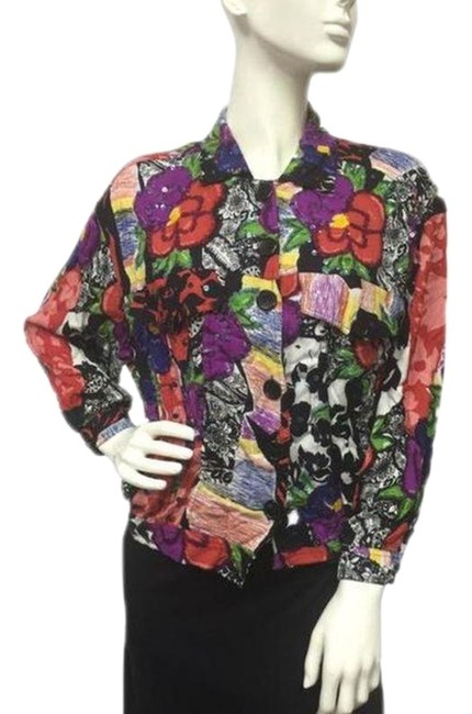 Preload https://img-static.tradesy.com/item/24925934/multicolored-floral-long-sleeve-small-button-down-top-size-6-s-0-1-650-650.jpg