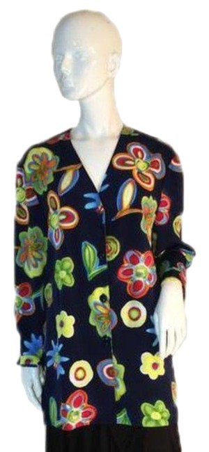 Preload https://img-static.tradesy.com/item/24925956/blue-yellow-pink-green-colorful-floral-button-down-top-size-22-plus-2x-0-1-650-650.jpg