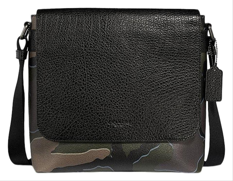 502719fcfb Coach Charles Men's with Camo Print Green Multi Buffalo Embossed Leather  Messenger Bag 57% off retail