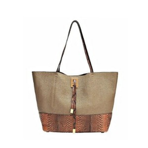 Michael Kors Collection Tote in brown/khaki/gold
