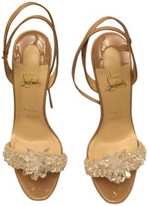 f76199f8657 Christian Louboutin Nude Crystal Queen Formal Shoes