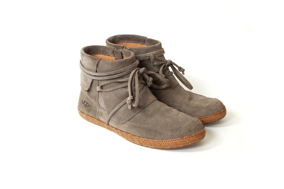d6731bfe1e0 UGG Australia Slate Reid Suede Lace Up Ankle Boots/Booties Size US 8  Regular (M, B)