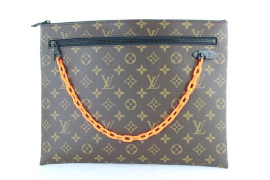 Preload https://img-static.tradesy.com/item/24926297/louis-vuitton-pochette-ss19-virgil-abloh-chain-870218-brown-coated-canvas-wristlet-0-0-540-540.jpg