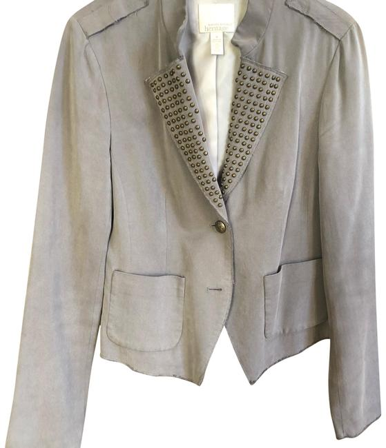 Preload https://img-static.tradesy.com/item/24926329/banana-republic-grey-heritage-blazer-size-6-s-0-2-650-650.jpg