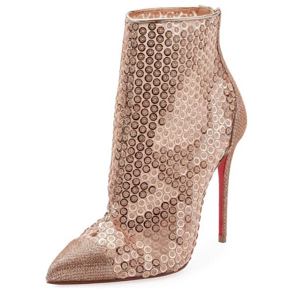 b45772690136 Christian Louboutin Gold Gipsybootie Spc 100 Version Nude Boots Booties