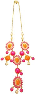 Lilly Pulitzer Pink Orange Gold Statement