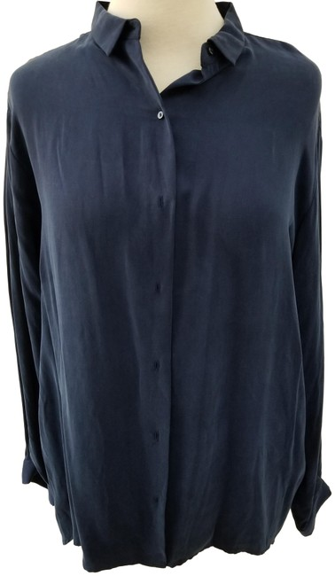 Preload https://img-static.tradesy.com/item/24926383/zara-blue-cupro-collection-button-down-top-size-12-l-0-2-650-650.jpg