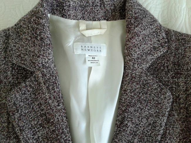Barneys New York Wool Elegant Single Brested Longsleeve dark purple Blazer Image 4