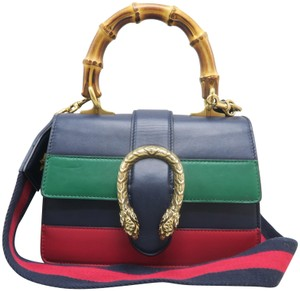 b6f71e9a8177b Gucci Small Dionysus Leather Top Handle Satchel in multicolor