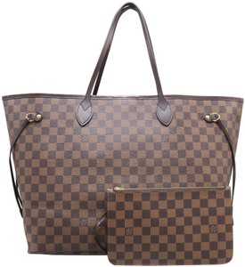 Louis Vuitton Lv Neverfull Gm Ebene Canvas Tote in Brown f24636650824a