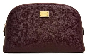 Dolce&Gabbana Textured Leather Cosmetic Bag Pouch Case