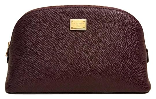 Preload https://img-static.tradesy.com/item/24926564/dolce-and-gabbana-dark-purple-textured-leather-pouch-case-cosmetic-bag-0-1-540-540.jpg
