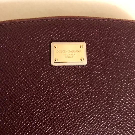 Dolce&Gabbana Textured Leather Cosmetic Bag Pouch Case Image 6