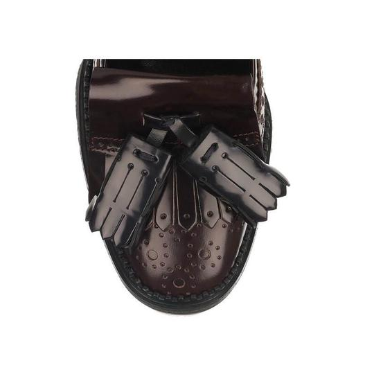 Burberry Leather Mocassin Classic Burgundy Pumps Image 2
