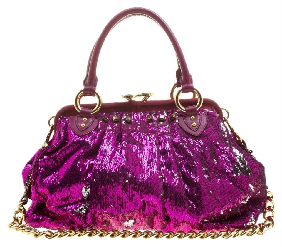 1ca635867443 Marc Jacobs Fuchsia New York Rocker Pink Sequin Shoulder Bag - Tradesy