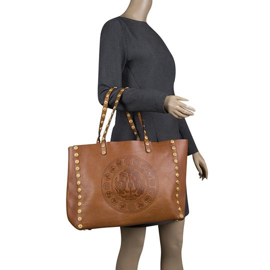 Valentino Leather Tote in Brown