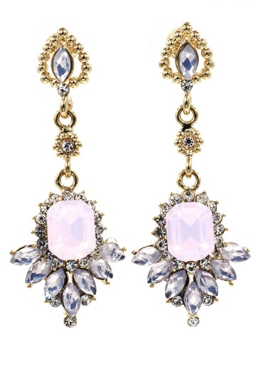 Preload https://img-static.tradesy.com/item/24926787/pink-elegant-pendant-crystal-golden-earrings-0-0-540-540.jpg