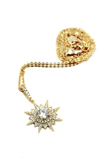 Ocean Fashion Gold shiny star crystal necklace Image 1