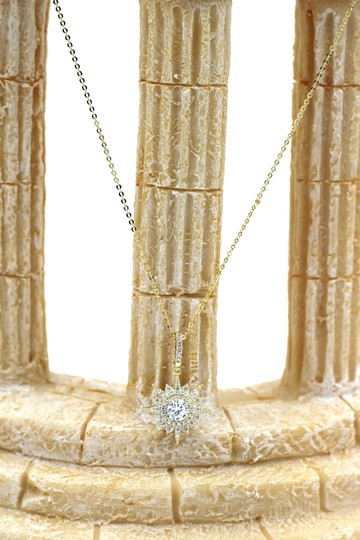 Ocean Fashion Gold shiny star crystal necklace Image 6