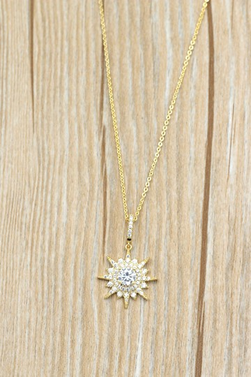 Ocean Fashion Gold shiny star crystal necklace Image 7