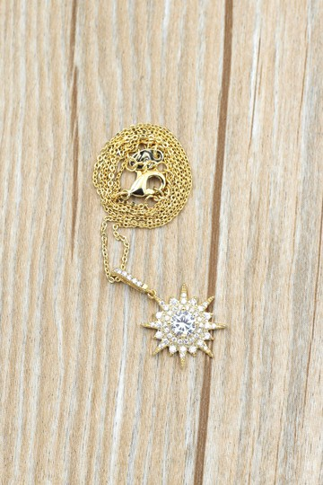 Ocean Fashion Gold shiny star crystal necklace Image 8