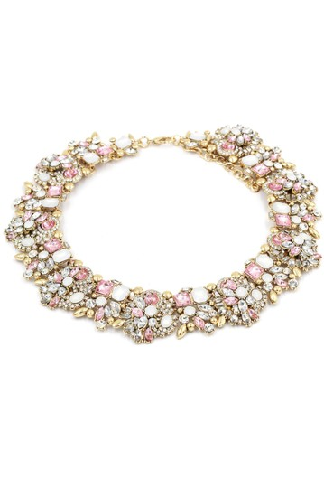 Ocean Fashion Fashion beautiful pink crystal necklace Image 1
